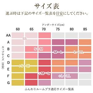 ルームブラサイズ表